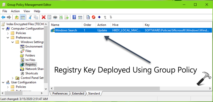 Deploy A Registry Key Using Group Policy