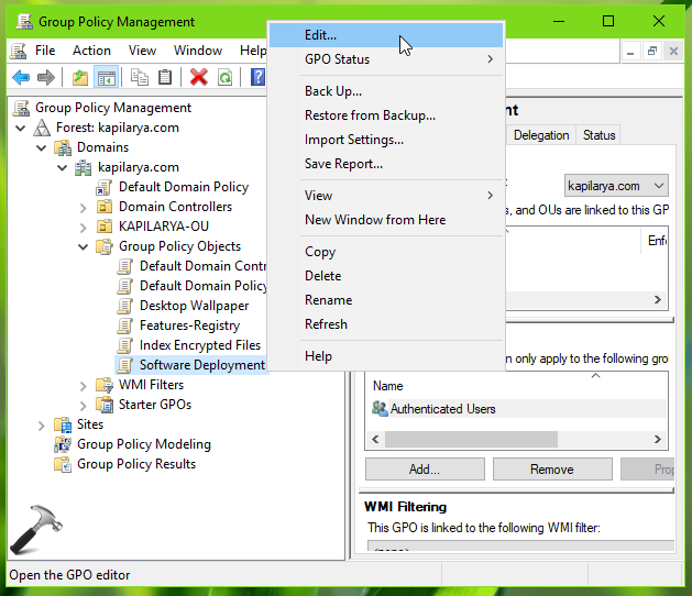 Deploy Software Using Group Policy In Windows Server 2019