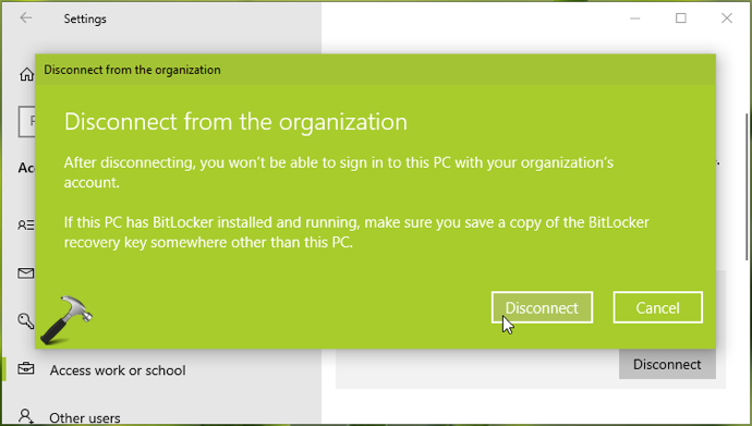 How To Disconnect Windows 10 From A Domain