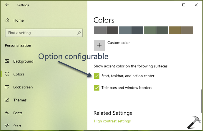 FIX Can't Change Taskbar Color In Windows 10
