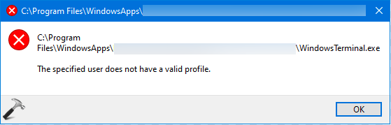 FIX The Specified User Does Not Have A Valid Profile