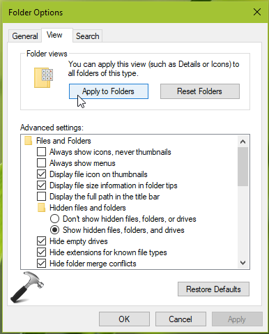 Windows 10 Won't Remember Folder View Settings