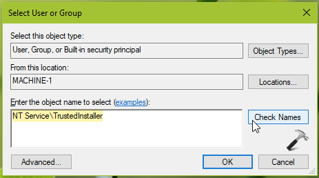 Restore Ownership to TrustedInstaller In Windows