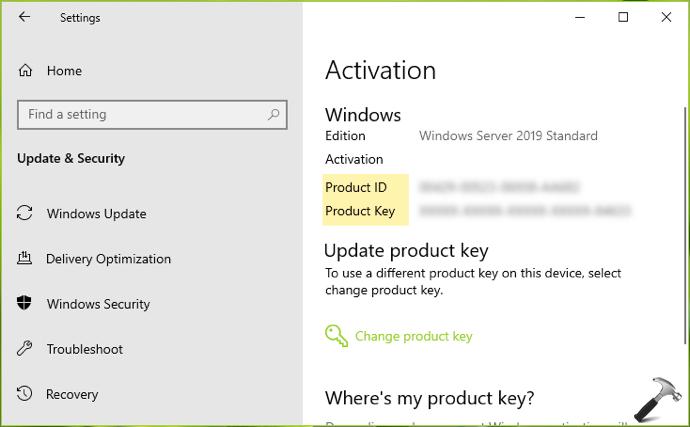 Windows 10 product id vs product key