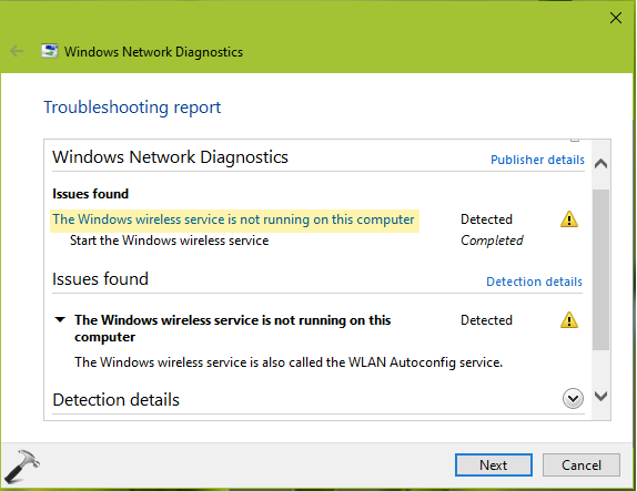 Windows Wireless Service Is Not Running On This Computer